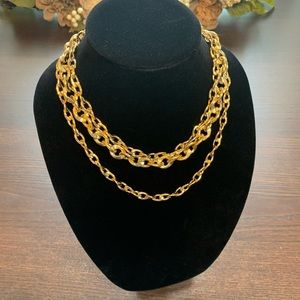Givenchy Triple Chunky Chain Necklace